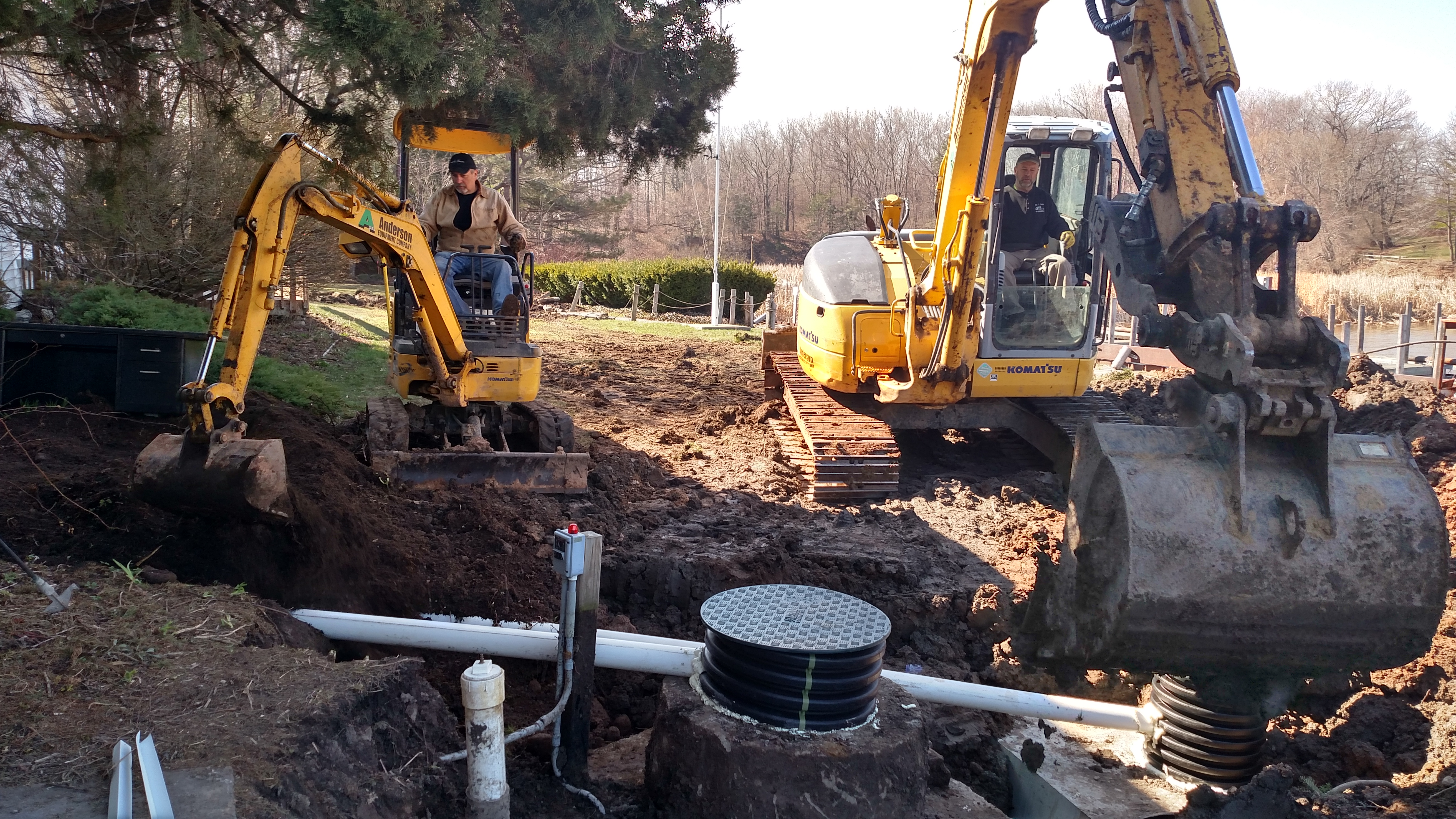 Installing New Septic System - Bootleggers Cove Renovation Project